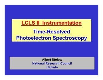 LCLS II Instrumentation Time-Resolved Photoelectron Spectroscopy