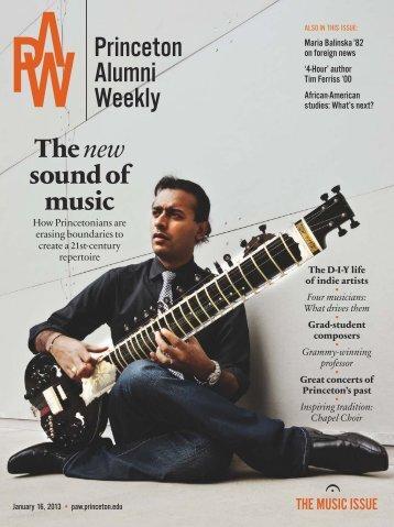 Musical machines - Princeton Alumni Weekly - Princeton University