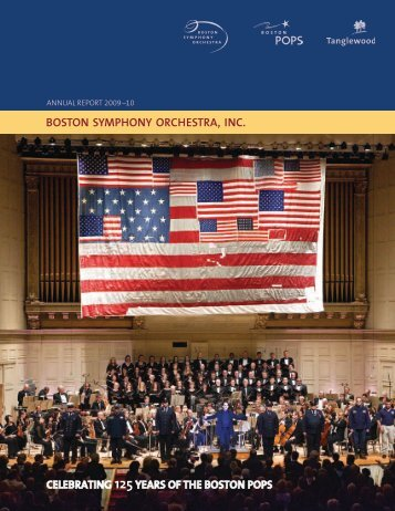 Annual Report 2009–10 – boston Symphony Orchestra, Inc