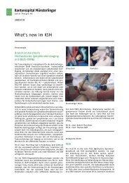 What's new im KSM: 2009, Ausgabe 3 - Spital Thurgau AG