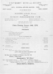 UNIVERSITY MUSICAL SOCIETY. ALBERTO JONAS, PIANIST ...