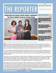 The Reporter: March 2012 - Runnymede Healthcare Centre