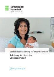Beckenbodentraining für Wöchnerinnen - Spital Thurgau AG