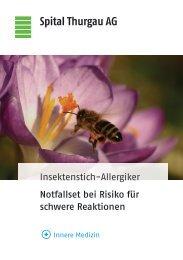 Insektenstich-Allergiker Notfallset bei Risiko für ... - Spital Thurgau AG