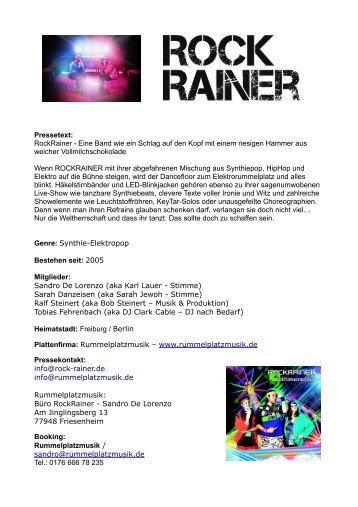 Biographie (PDF, 2,4 MByte) - RockRainer