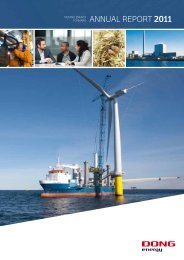 ANNUAL REPORT 2011 - DONG Energy