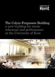 The Colyer-Fergusson Building a new building ... - University of Kent