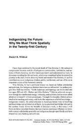 Indigenizing the Future: Why We Must Think ... - KU ScholarWorks
