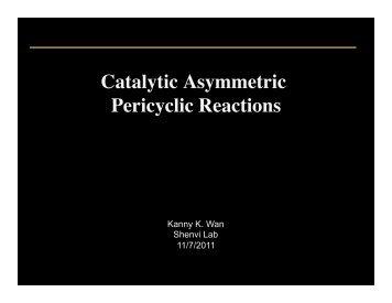 Catalytic Asymmetric Pericyclic Reactions