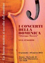 I CONCERTI DELLA DOMENICA - Trent - Società Filarmonica Trento