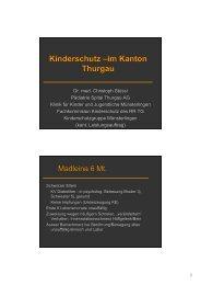 im Kanton Thurgau Kinderschutz - Spital Thurgau AG