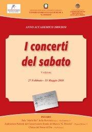 I concerti del sabato - Pesaro - Conservatorio Gioacchino Rossini
