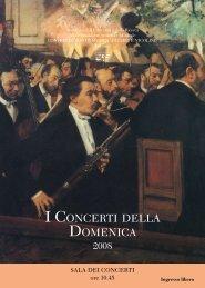 I CONCERTI DELLA DOMENICA - Conservatorio G. Nicolini