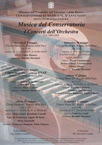 I Concerti dell'Orchestra - Pierluigi Secondi
