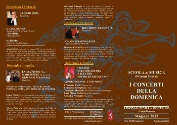 i concerti della domenica - Scuola di Musica di Campi Bisenzio