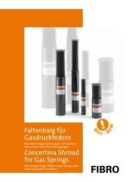 Faltenbalg für Gasdruckfedern - Fibro GmbH