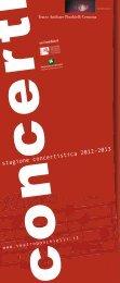 stagione concertistica 2012-2013 - Teatro A. Ponchielli