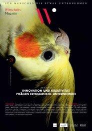 INNOVATION UND KREATIVITÄT PRÄGEN ... - Wirtschaftsmagazin