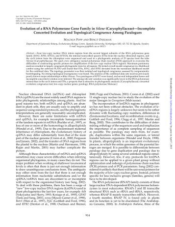 Evolution of a RNA Polymerase Gene Family in Silene - Systematic ...