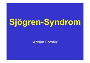 Sjögen-Syndrom