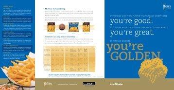 you're GOLDEN. - Lamb Weston