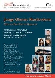 Programmheft - Glarner Kammerorchester