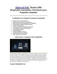 Hallowell EMC Modelo 2000 Respirador Automático Veterinario ...