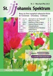 Heft Mitte Februar - Mai 2013 - St. Johannis Bemerode