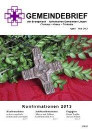 Ausgabe April/Mai 2013 - Kreuzkirche Lingen