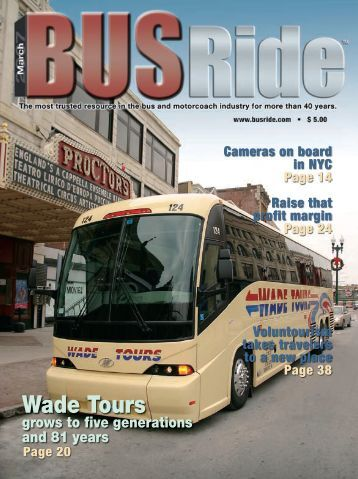 Brochure Wade Tours grows to five generations and