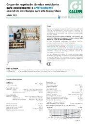 Grupo de regulação térmica modulante para aquecimento e ... - Caleffi