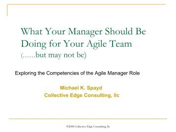 The Compleat Agile Manager - Collective Edge Coaching