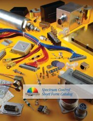Short Form Catalog - Spectrum Control - API Technologies