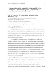 Introgression studies in interspecific hybrids - Lilium Breeding