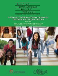 K-12 Districts' Existing and Desired Partnerships - UCLA APEP