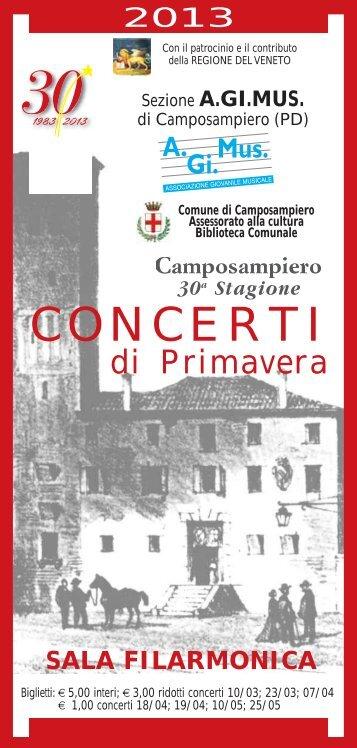 CONCERTI - A.Gi.Mus: associazione giovanile musicale