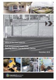 2010 Full Report (Darling Downs CC) - Queensland Corrective ...