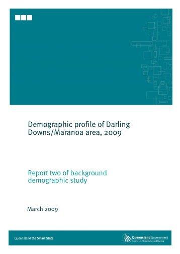 Demographic profile of Darling Downs/Maranoa area, 2009