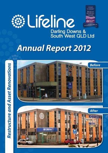 Annual Report 2012 - Lifeline Darling Downs