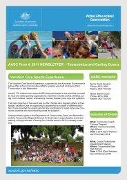aasc term 4 newsletter — goulburn - Australian Sports Commission