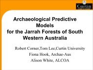 Archaeological Predictive Models for the Jarrah Forests of South ...