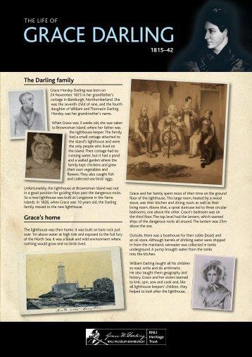 Grace Darling fact sheet - RNLI