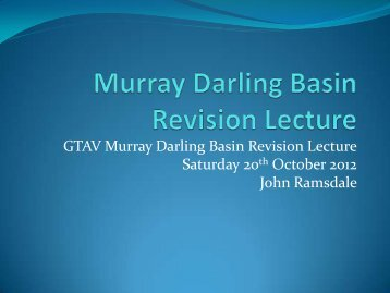 Murray Darling Basin Revision Lecture - Geography Teachers ...