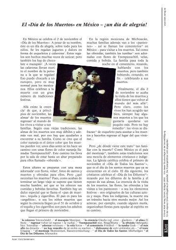 El «Día de los Muertos» en México – ¡un día de ... - Ernst Klett Verlag