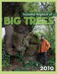 2010 National Register of Big Trees - American Forests