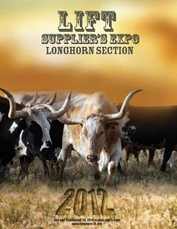 Suppliers' Night 2012 Buyers Guide - Longhorn IFT