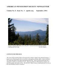 2011 September Newsletter - American Penstemon Society