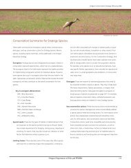 Conservation Summaries for Strategy Species - Oregon Department ...