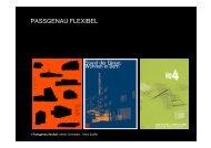 PASSGENAU FLEXIBEL - Stoffel Schneider Architekten AG