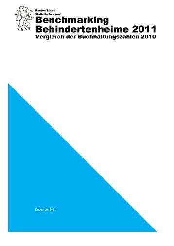 Gesamtbericht Vergleich der Buchhaltungszahlen 2011 (PDF, 774 kB